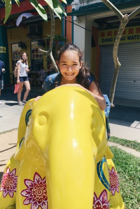 Just me with a yellow elephant!